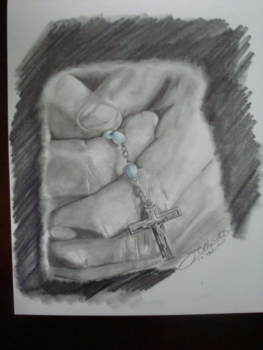 Rosary Drawing Jason McRoberts
