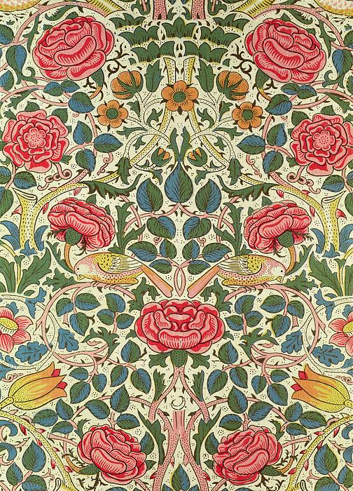 Rose Print by William Morris