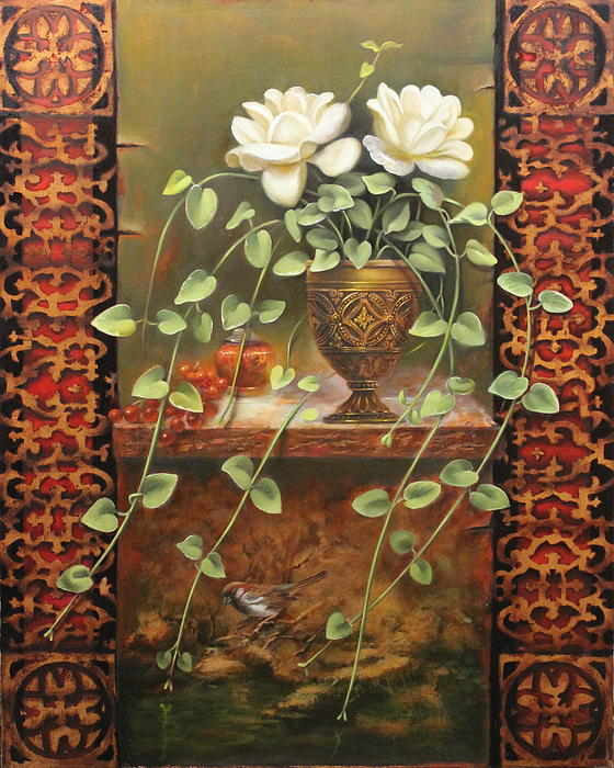 Loretta Fasan - Roses and Ivy
