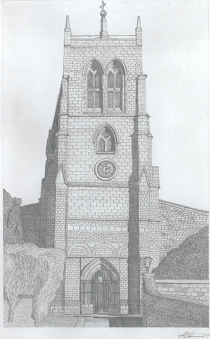 Rothwell Church Print by Michael  Dixon