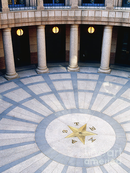 Rotunda In Texas State Capitol Print by Jeremy Woodhouse