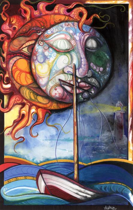 Rough Sea Print by Anthony Burks Sr