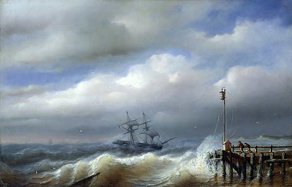 Rough Sea In Stormy Weather Print by Paul Jean Clays