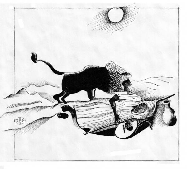 Rousseau Sleeping Gypsy Drawing