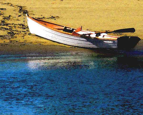 Rowboat At Mother's Beach Print by Timothy Bulone