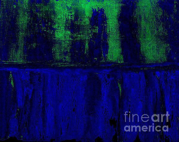 Royal Blue Print by Marsha Heiken