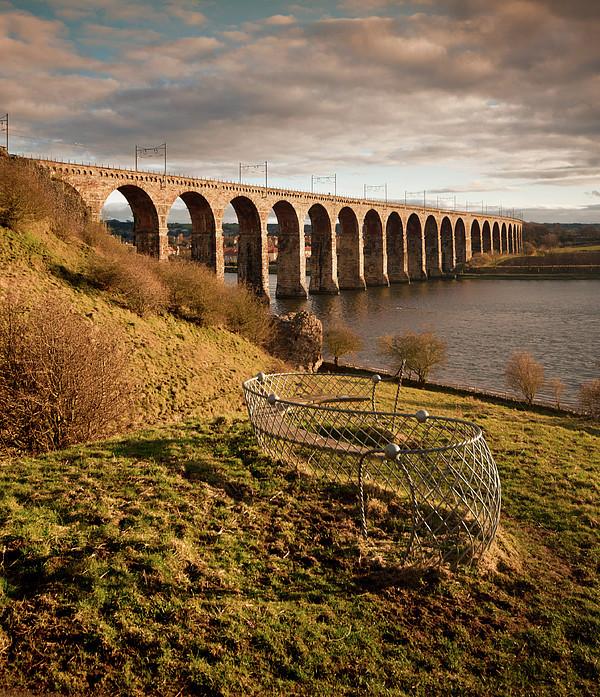 Royal Border Bridge, Berwick-upon-tweed Print by David Tait
