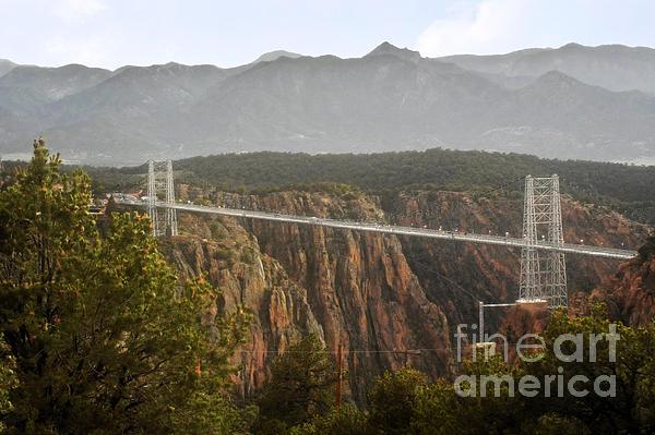 Royal Gorge Bridge Colorado - The World's Highest Suspension Bridge Print by Christine Till