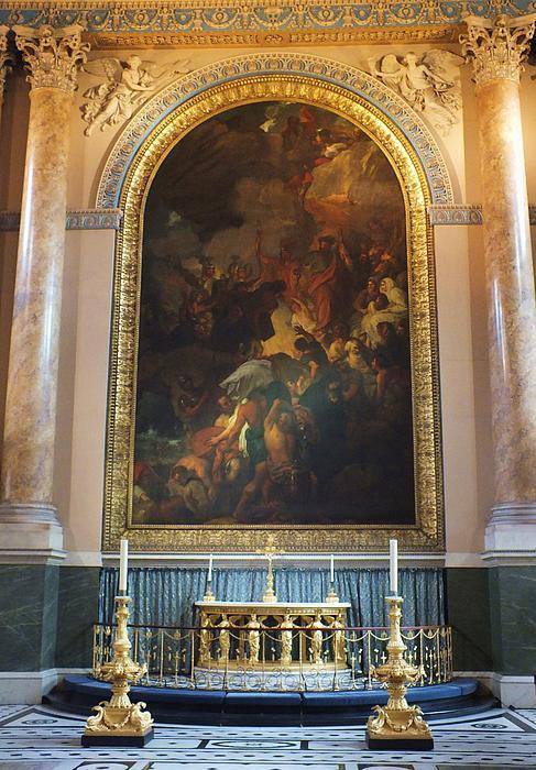 Royal Naval Chapel Interior Print by Anna Villarreal Garbis