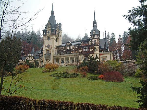 Royal Peles Castle Sinaia Romania Print by Mircea Veleanu