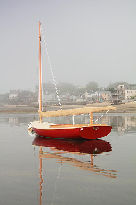 Ruby Red Catboat Print by Roupen  Baker