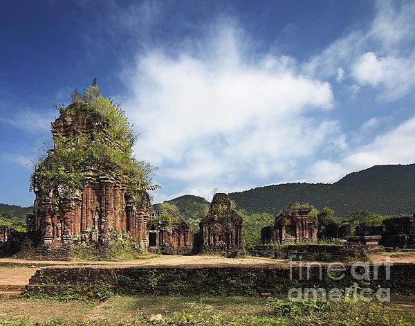 Ruins Of Hindu Temples Print by Skip Nall