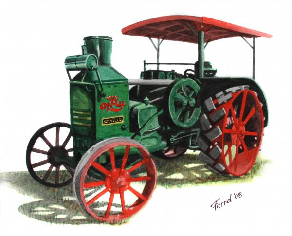 Tractor Pull Artwork : Rumely oil pull tractor by ferrel cordle