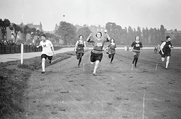 Running Track Race Print by Topical Press Agency