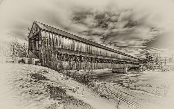 Rusagonish Covered Bridge Print by Jason Bennett