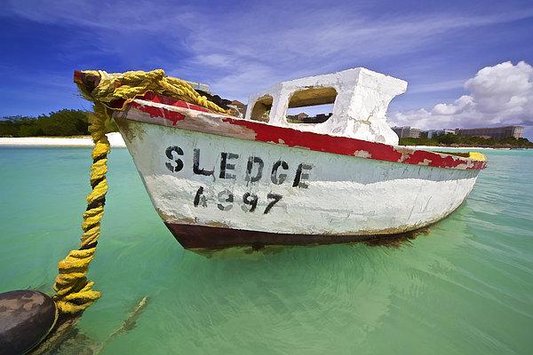Rustic Fishing Boat Of Aruba II Print by David Letts