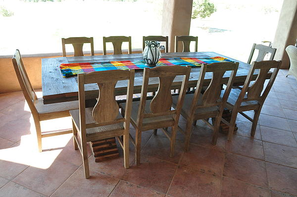 Rustic Table For Outside Living Room Print by Thor Sigstedt