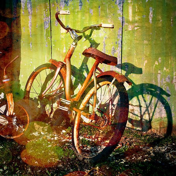 Rusty Bikes Print by Sonja Quintero