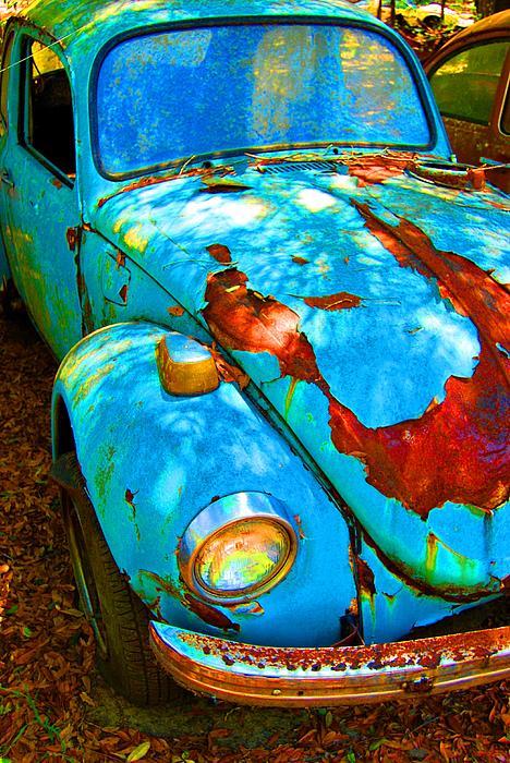 Rusty Blue Print by Kendra Longfellow