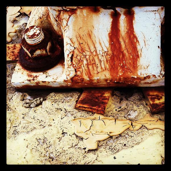 Rusty Bolt Abstraction Print by Anna Villarreal Garbis