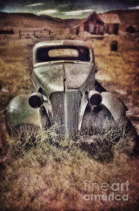 Rusty Car  Print by Jill Battaglia