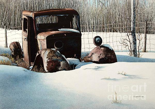 Rusty In Alberta Print by Robert Hinves