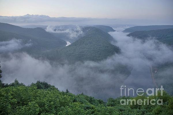 Saar Loop In The Morning Fog Print by Heiko Koehrer-Wagner