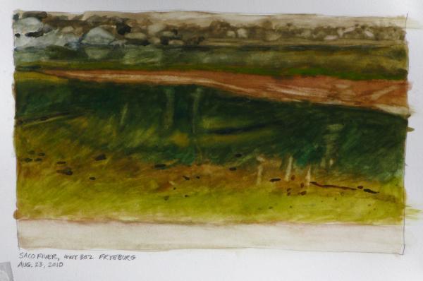 Saco River Maine Print by Robert Bissett