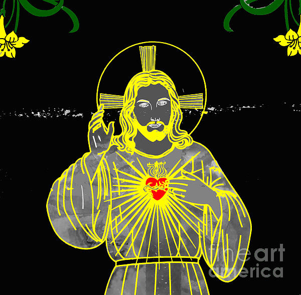 Sacred Heart Print by Al Bourassa