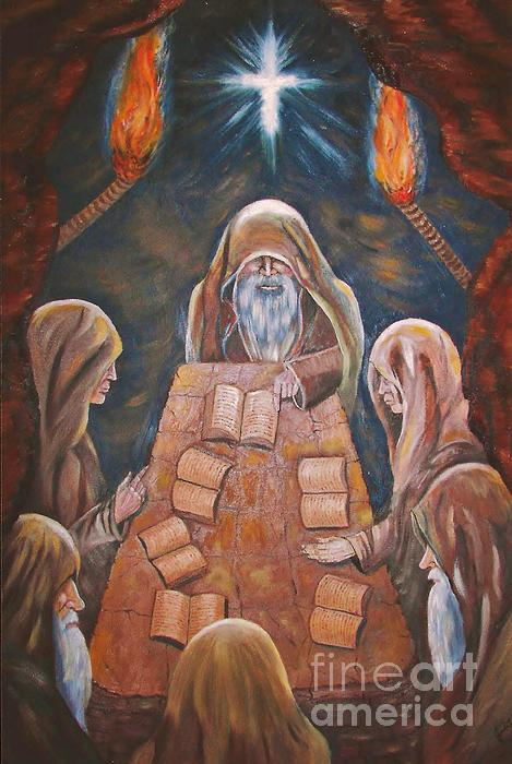 Sacred Tradition Print by Judy Via-Wolff