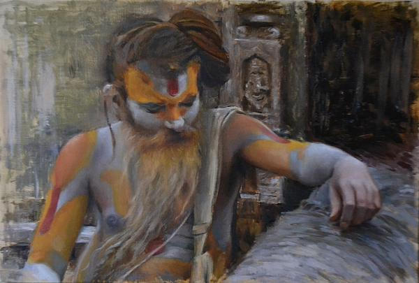 Phil Couture - Sadhu on the banks of Bagmati