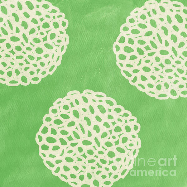Sage Garden Bloom Print by Linda Woods