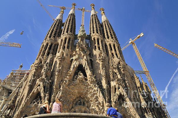 Sagrada Familia - Impressive Church From Gaudi In Barcelona Print by Matthias Hauser