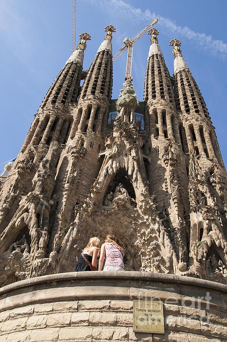 Sagrada Familia Church - Barcelona Spain Print by Matthias Hauser