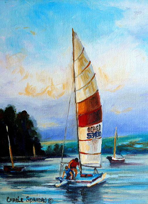 Sail Boats On The Lake Painting
