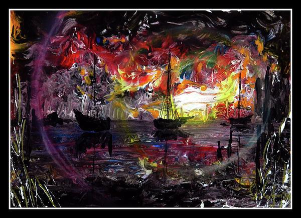 Sail Boats Print by Ricardo Di ceglia