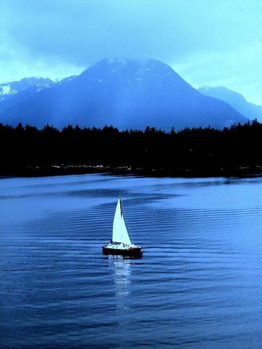 Sailboat 1 Print by Randall Weidner