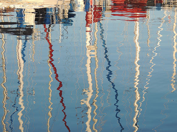 Peg Toliver - Sailboat Mast Reflection II