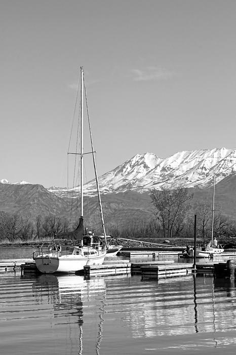 Sailboats At Utah Lake State Park Print by Tracie Kaska