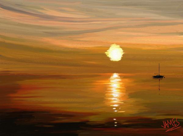 Sailing Print by James Shepherd