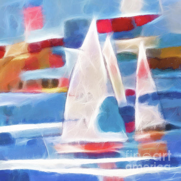 Sailing Joy Digital Print by Lutz Baar