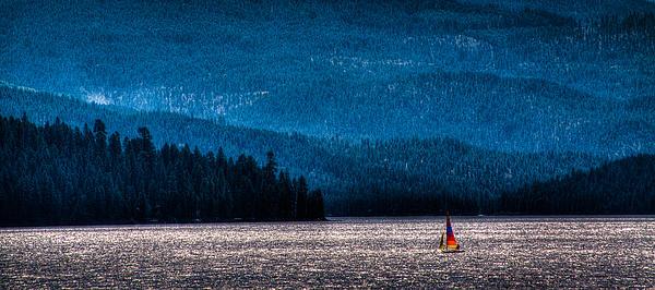 Sailing Priest Lake Print by David Patterson