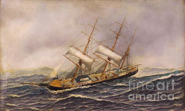 Sailing Ship - Saint Mary Print by Pg Reproductions