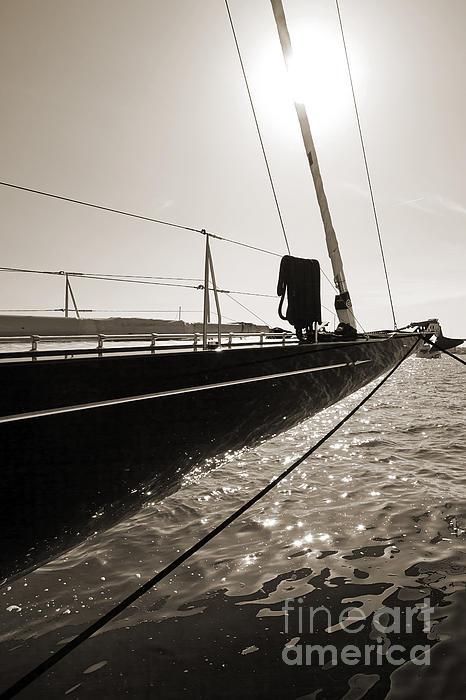 Sailing Yacht Hanuman J Boat Bow Print by Dustin K Ryan