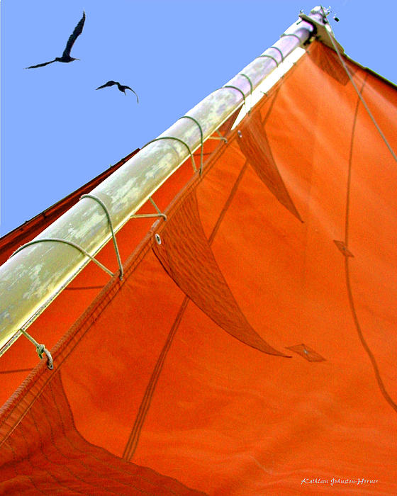 Sails Five Print by Kathleen Horner