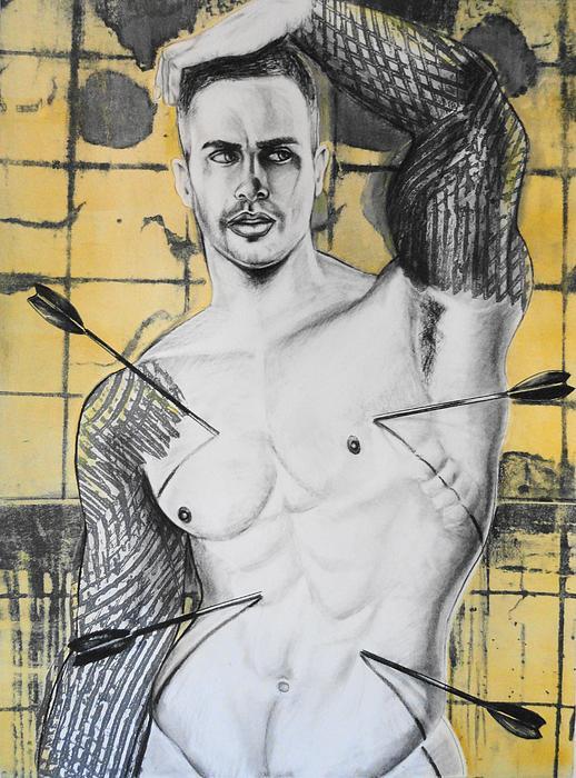 Saint Sebastian Print by Carmine Santaniello
