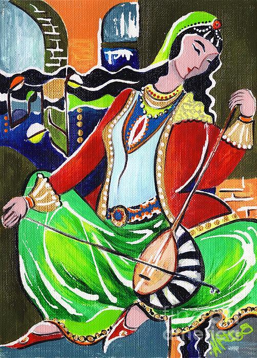 Sallaneh And Its Player Print by Elisabeta Hermann