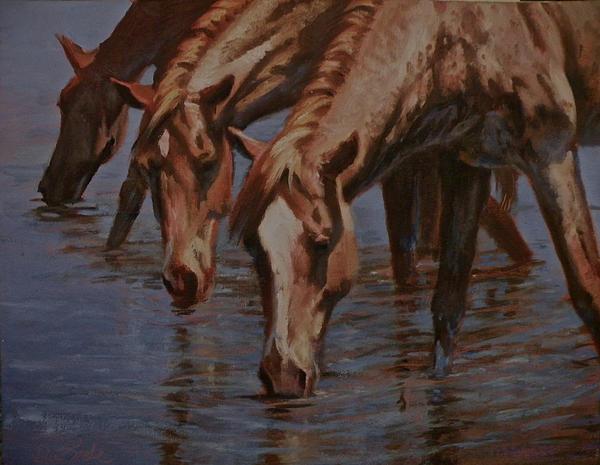 Salt River Redheads Print by Mia DeLode