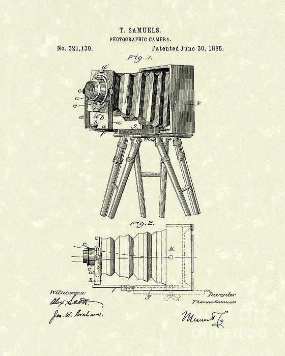 Samuels Photographic Camera 1885 Patent Art Print by Prior Art Design