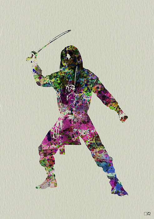 Samurai With A Sword Print by Naxart Studio